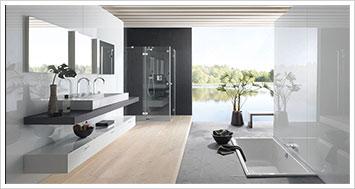 In einem herrlichen Bad mit Stil und Atmosphäre ist der Genuss der Körperpflege, entspannendes Duschen oder gar das wonnige Gefühl in der Badewanne oder im Whirpool zu liegen gleich ungemein höher.